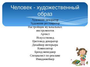 Человек - художественный образ Художник-декоратор Художник-реставратор Настро