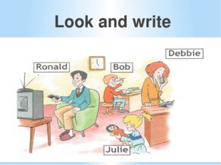 Look and write