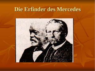 Die Erfinder des Mercedes