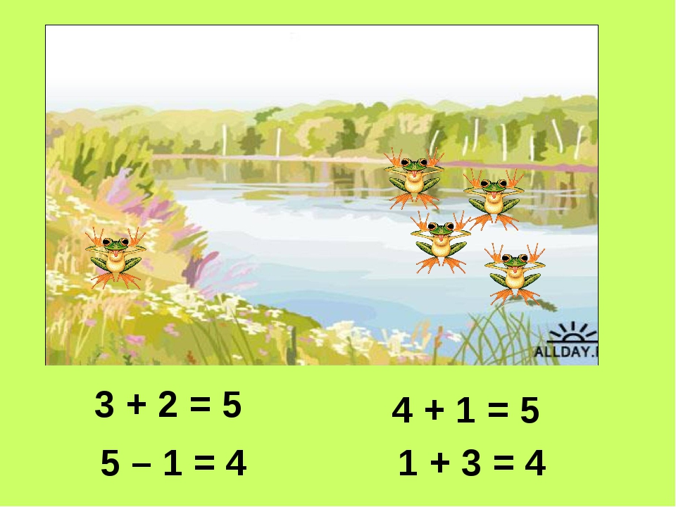 5 – 1 = 4 3 + 2 = 5 4 + 1 = 5 1 + 3 = 4