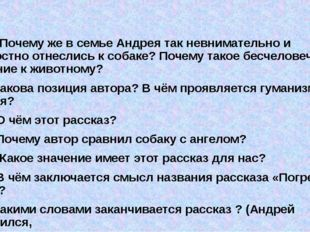 16) Почему же в семье Андрея так невнимательно и безжалостно отнеслись к соб