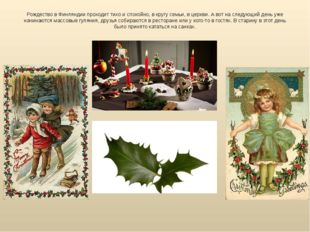 Рождество вФинляндии проходит тихо испокойно, вкругу семьи, вцеркви. Аво