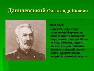 Данилевський Олександр Якович (1838-1923) Біохімік, його праці присвячені фер