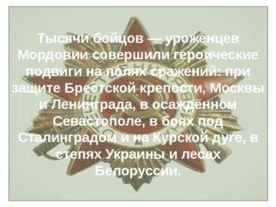 Тысячи бойцов — уроженцев Мордовии совершили героические подвиги на полях сра