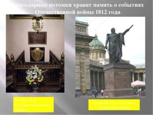 Благодарные потомки хранят память о событиях Отечественной войны 1812 года Мо