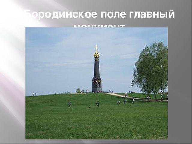 Бородинское поле главный монумент