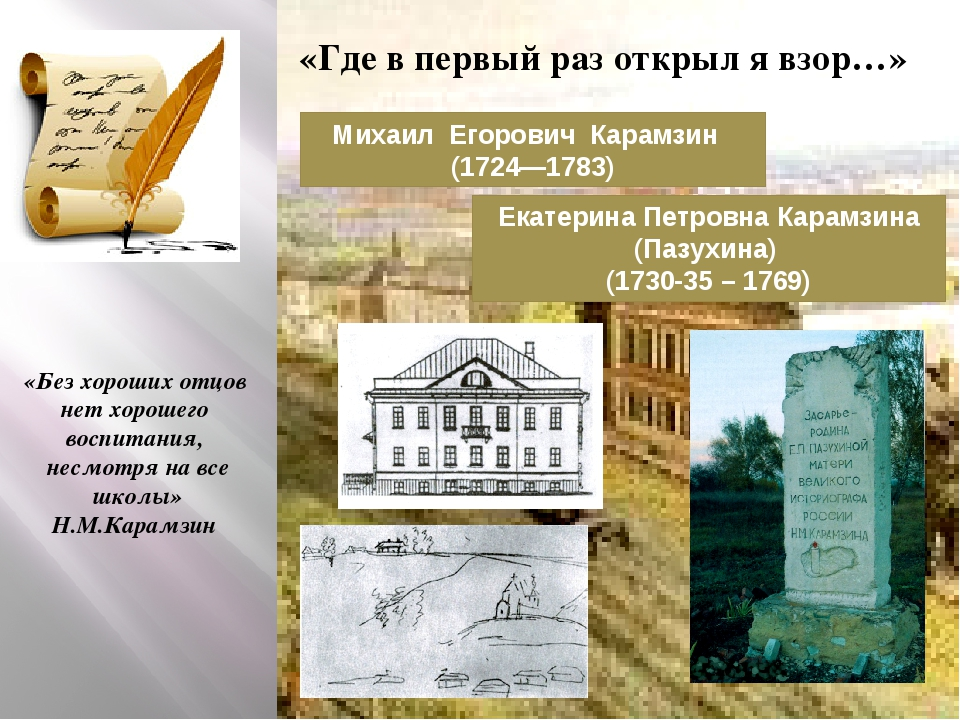 Михаил Егорович Карамзин (1724—1783) Екатерина Петровна Карамзина (Пазухина)...