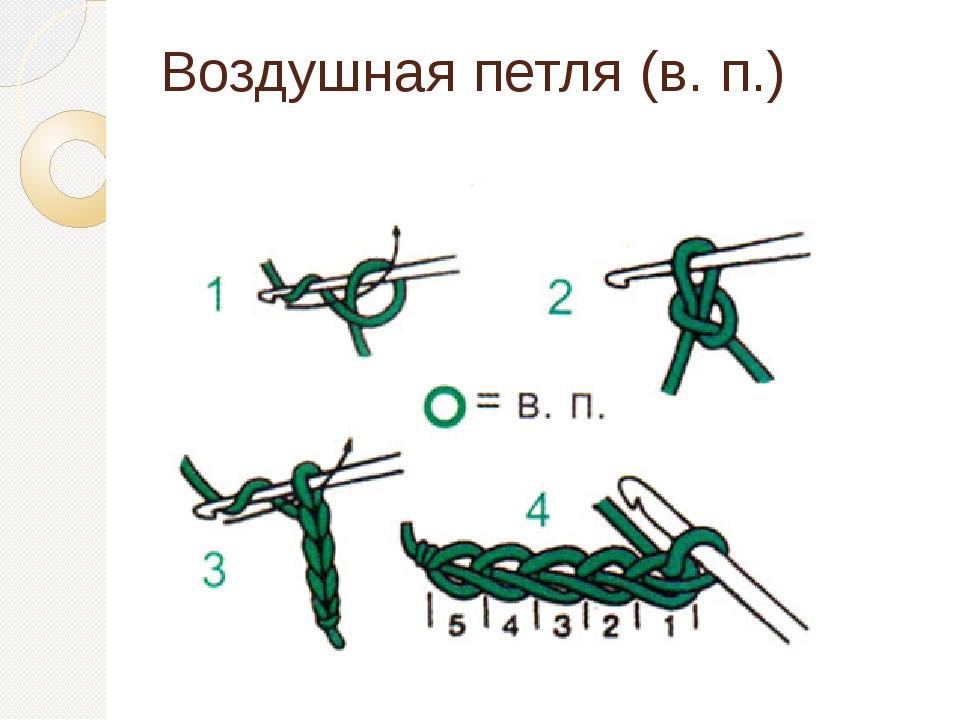 Научиться вязать воздушную петлю крючком
