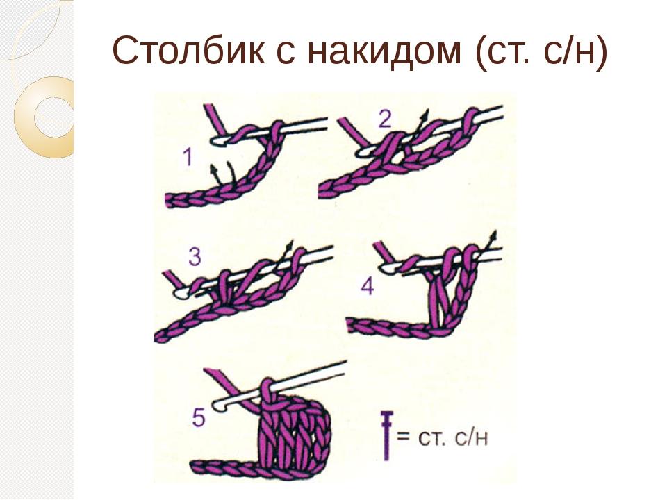 Столбик с накидом (ст. с/н)