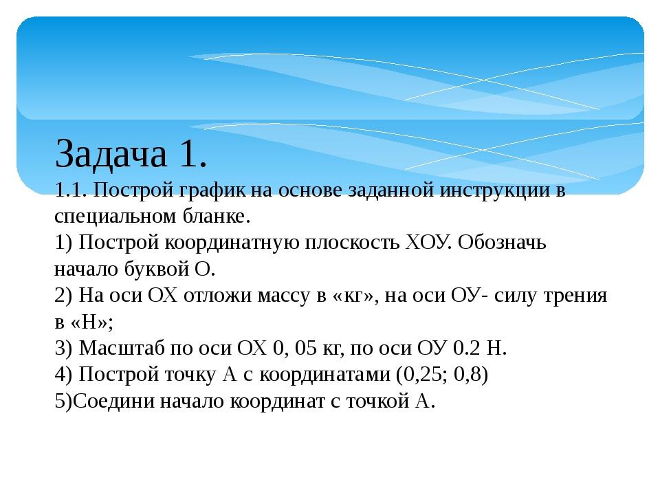 Задача 1. 1.1. Построй график на основе заданной инструкции в специальном бла...