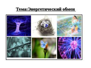Тема:Энергетический обмен