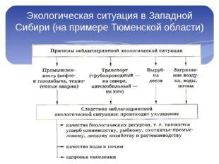 Экологическая ситуация в Западной Сибири (на примере Тюменской области)