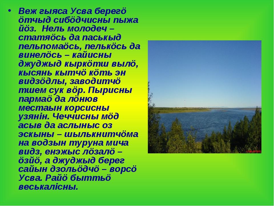 Веж гыяса Усва берегö öтчыд сибöдчисны пыжа йöз. Нель молодеч – статяöсь да п...