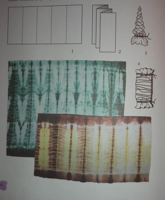 Узелковый батик схемы складывания