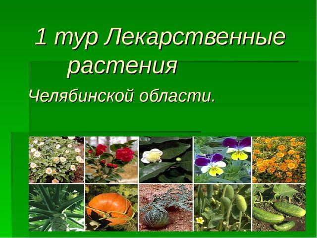 1 тур Лекарственные растения Челябинской области.