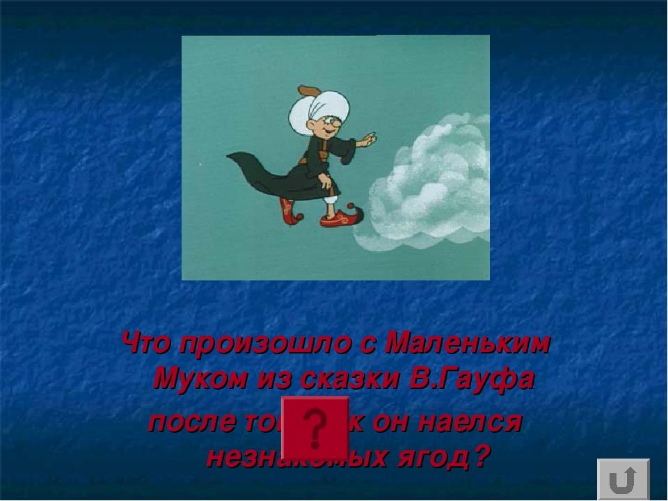 Что произошло с Маленьким Муком из сказки В.Гауфа после того,как он наелся не...