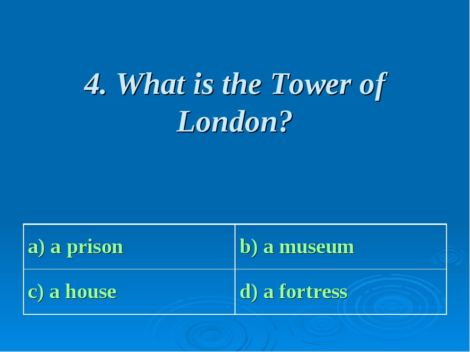 4. What is the Tower of London?