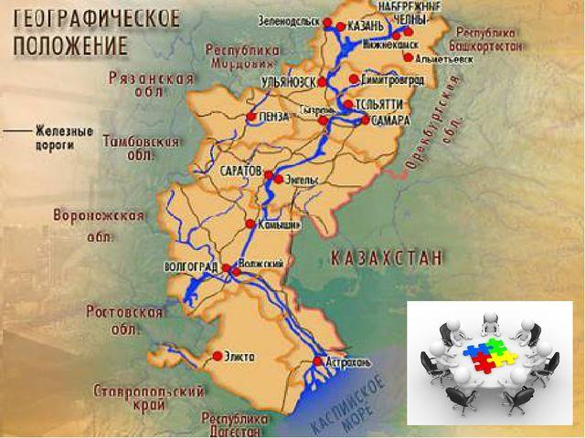 Волга – главный районообразующий фактор. Это главная особенность района.