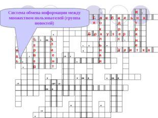 Система обмена информации между множеством пользователей (группа новостей) Г