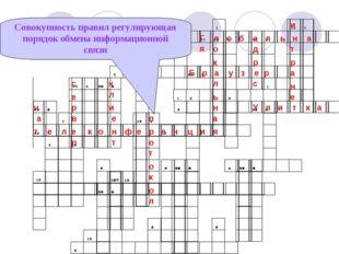 Совокупность правил регулирующая порядок обмена информационной связи Г л о б