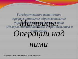 Государственное автономное профессиональное образовательное учреждение Красн