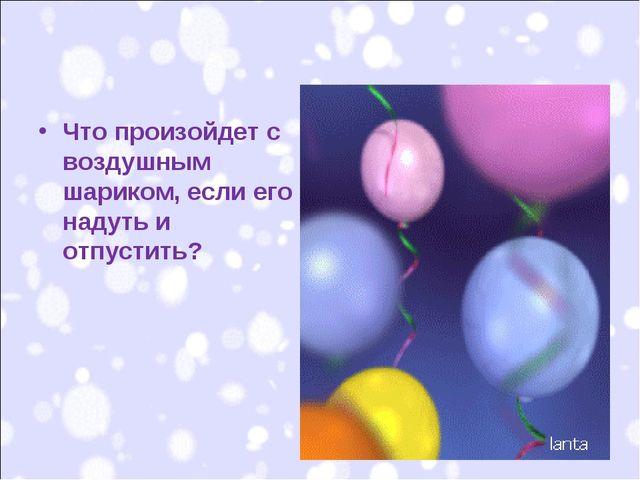 Что произойдет с воздушным шариком, если его надуть и отпустить?
