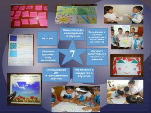 Преподавание и обучение в соответствии с возрастными особенностям ОДО, ОО 7