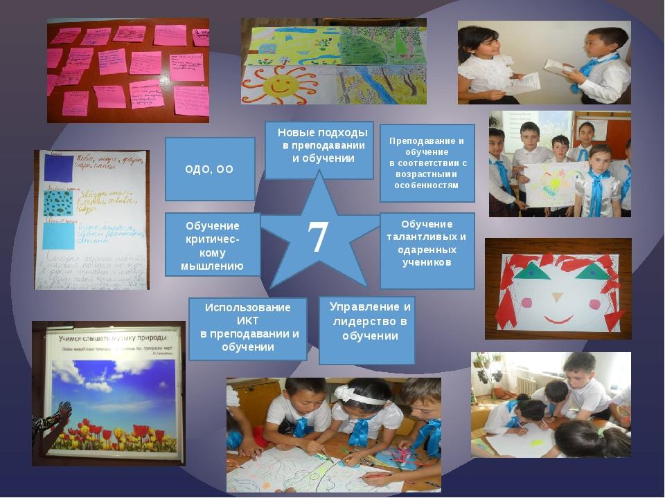 Преподавание и обучение в соответствии с возрастными особенностям ОДО, ОО 7...