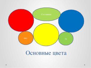 Основные цвета цве- та Составные
