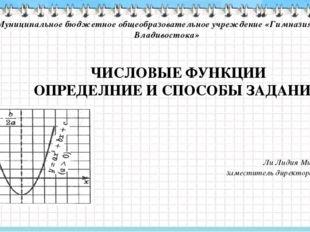 Муниципальное бюджетное общеобразовательное учреждение «Гимназия №2 г. Владив