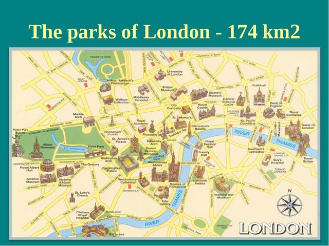 The parks of London - 174 km2