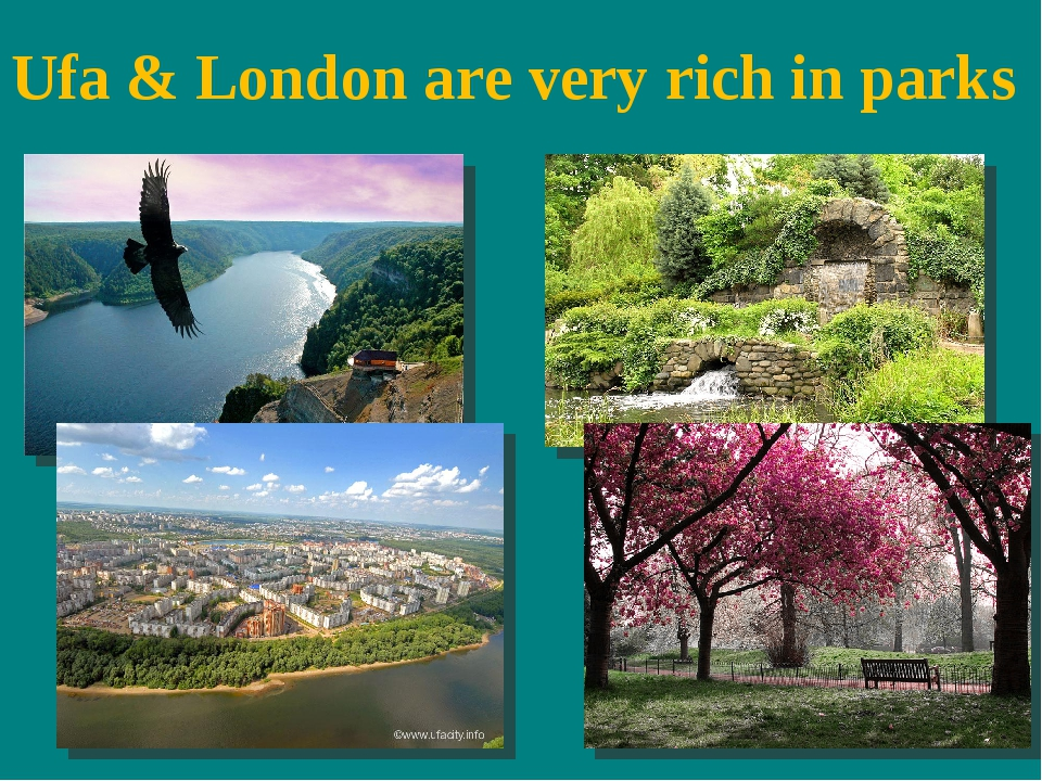 Ufa & London are very rich in parks