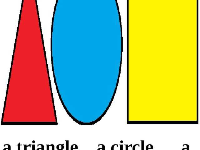 a triangle a circle a square