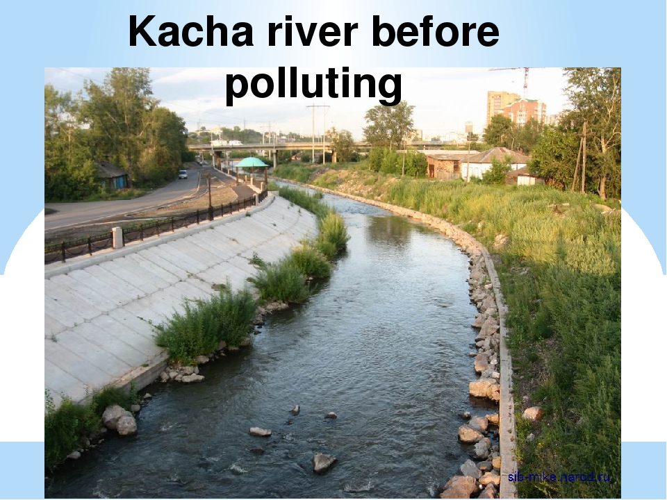 Kacha river before polluting