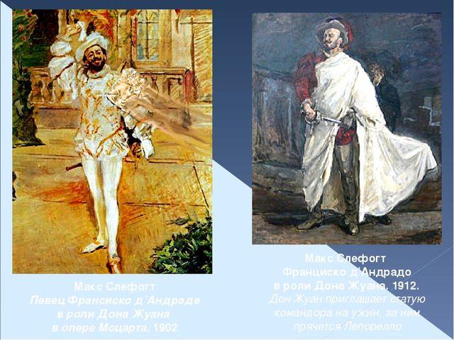 Макс Слефогт Певец Франсиско д'Андраде в роли Дона Жуана в опере Моцарта, 190...