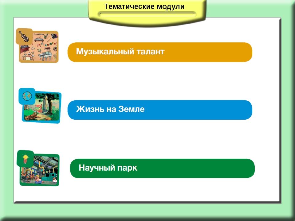 Тематические модули