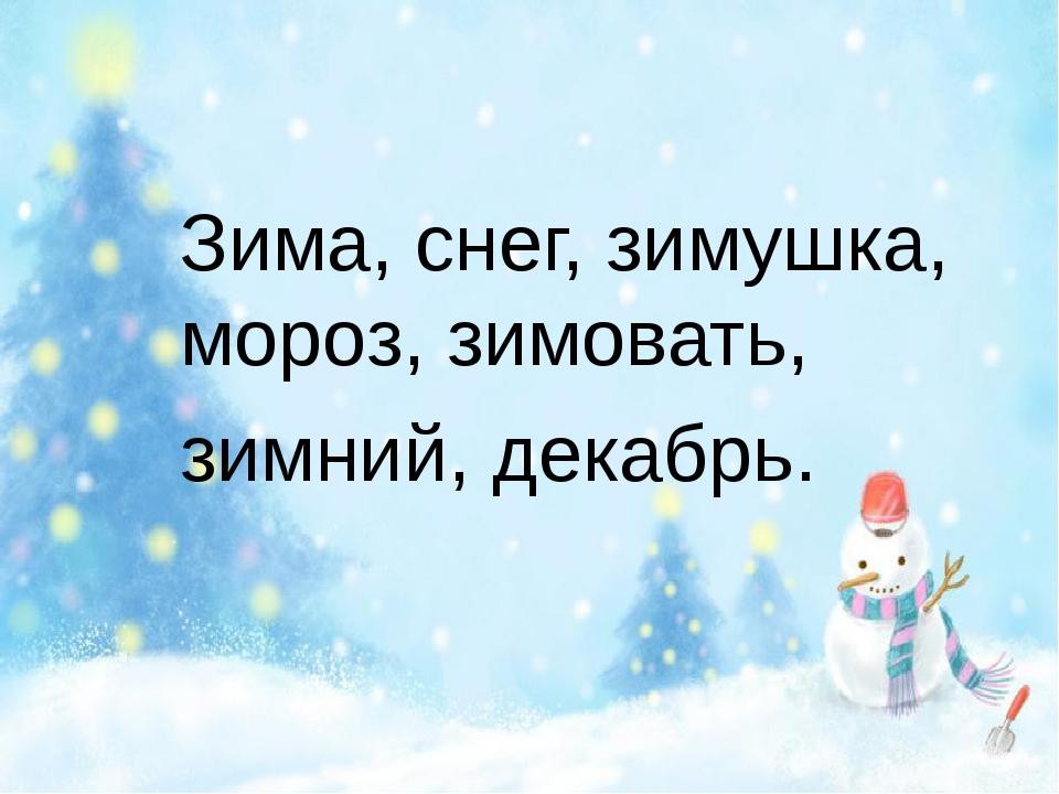 Зима, снег, зимушка, мороз, зимовать, зимний, декабрь.