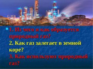 1. Из чего и как образуется природный газ? 2. Как газ залегает в земной коре?