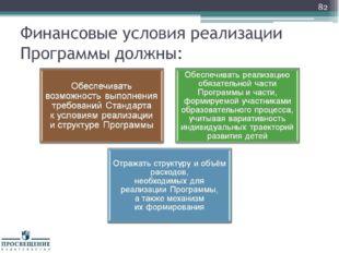 Финансовые условия реализации Программы должны: