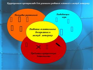 Предметно-практическая деятельность Развитие осязательного восприятия и мелк