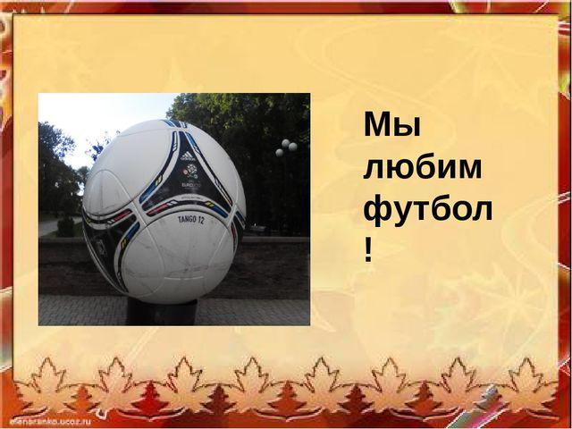 Мы любим футбол!