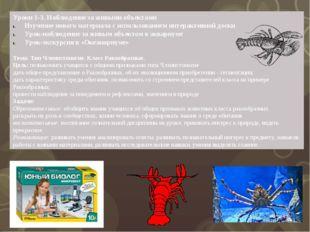Уроки 1-3. Наблюдение за живыми объектами Изучение нового материала с использ