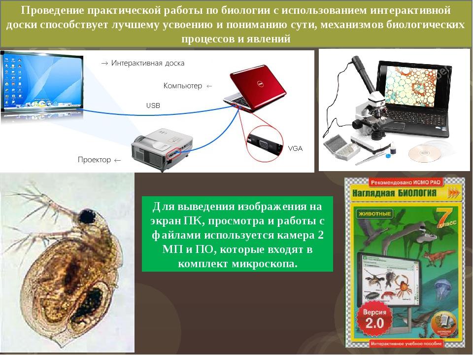 Для выведения изображения на экран ПК, просмотра и работы с файлами используе...