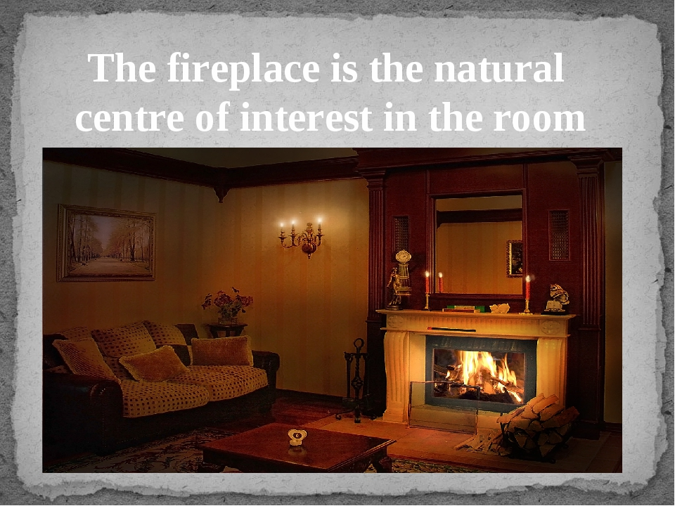 The fireplace is the natural centre of interest in the room