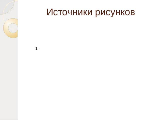 Источники рисунков 1.