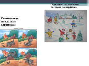 Сочинение по сюжетным картинкам Описание, составление рассказа по картинам
