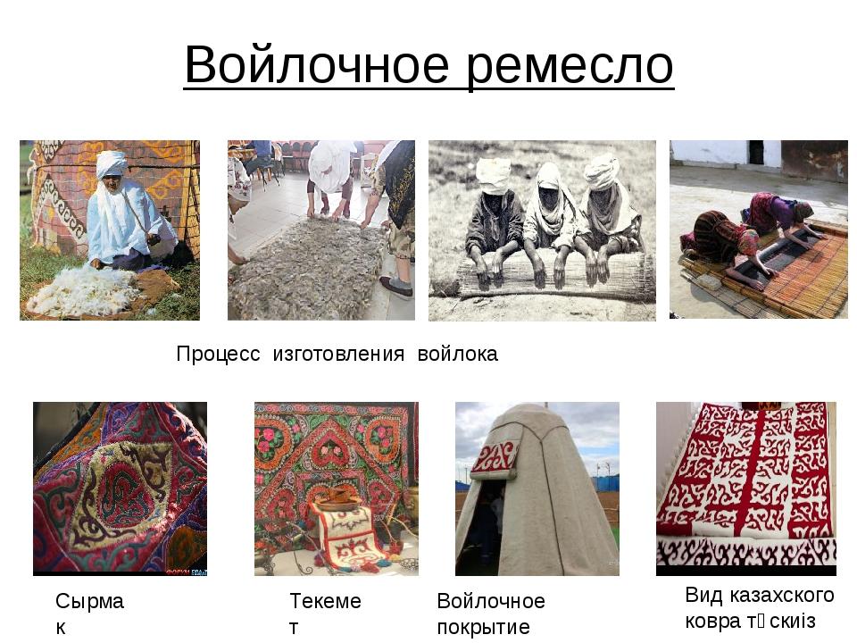 Войлочное ремесло Процесс изготовления войлока Вид казахского ковратұскиiз С...