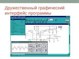 Дружественный графический интерфейс программы