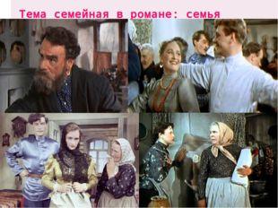 Тема семейная в романе: семья Мелиховых