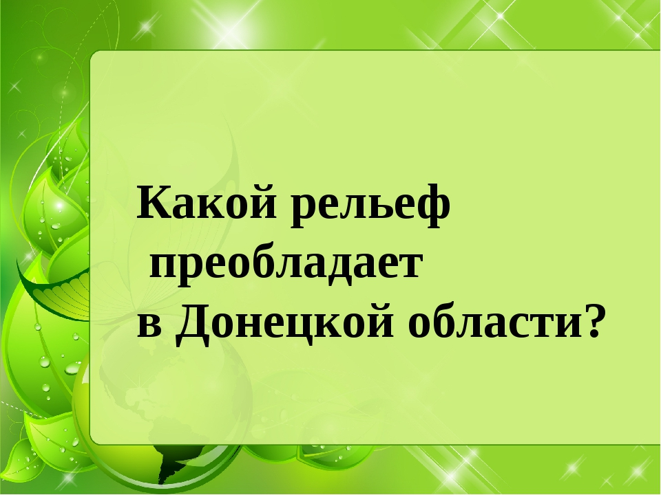 Какой рельеф преобладает в Донецкой области?